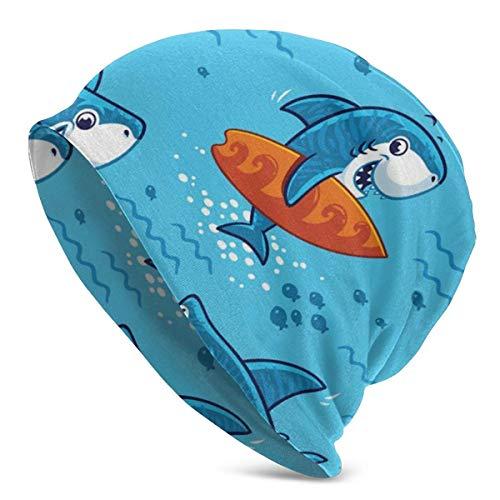 AEMAPE Gorro unisex bajo el agua con diseño de tiburones de dibujos animados cálidos y calaveras unisex