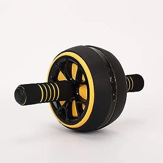 多機能腹部ホイール アブローラーホイール 腹部エクササイズ 自宅で筋力と運動を改善するための筋肉トレーニングのための筋肉トレーナー,イエロー