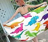 SCVBLJS Toallas De Playa Animal De Dibujos Animados Dinosaurio De Color Hombres Y Mujeres Nadar SPA Viajar Yoga Deportes Cubierta De Hamaca Baño Ducha En Casa Toallas Niño