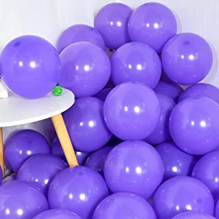 100Pcs Purple Party Balloons 10 Inch Lavender Balloon Pastel Purple Latex Ballons for Party Birthday Wedding Graduation An...