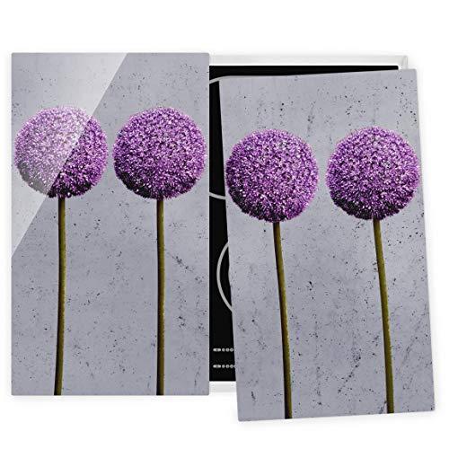 Bilderwelten Couvre Plaque de Cuisson à Induction vitrocéramique - Allium Ball Flower 52x60cm