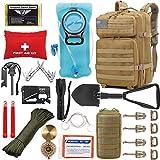 EVERLIT 42L Tactical Backpack Survival Kit Bugout Bag Assault Pack Rucksack with Hydration Bladder...