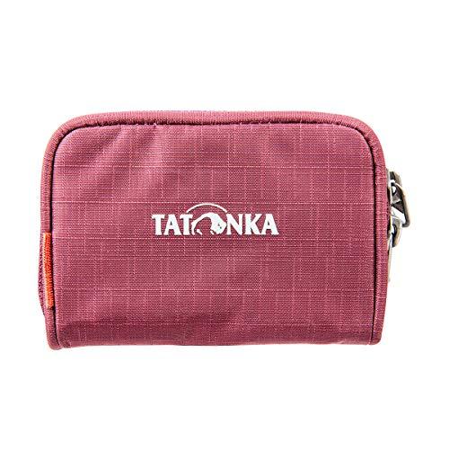Tatonka Geldbeutel Plain Wallet - Kleine Geldbörse mit Reißverschluss im Kreditkarten-Format - 11 x 7 x 2 cm - Damen und Herren - bordeaux red