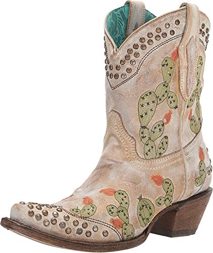 Corral Ld Saddle Nopal Embroidery & Studs Ankle Boot ,Size 9