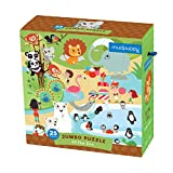 """Mudpuppy At the Zoo Jumbo Puzzle, 25 Jumbo Pieces, 22""""x22"""" – Great for Kids Age 2+ - Whimsical Zoo Scene with Colorful Animals – Helps Develop Hand-Eye Coordination -Convenient Rope Handle on Box"""