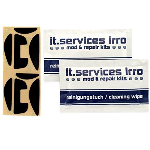 IT-Services Irro 2X Sets Glides/Mausgleiter passend für Logitech G700 / G700S, inkl. 2 Reinigungspads