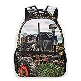 Lawenp Mode Unisex Rucksack Old Tractor Bookbag Leichte Laptoptasche für Schulreisen Outdoor...
