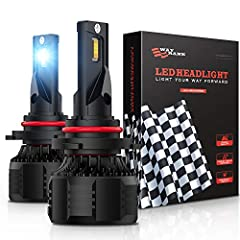 9005 LED headlight bulbs, Cree LED chips with 90W 16000Lm high brightness per pair, 6000K cool white, 400% brighter than halogen bulb, lighting distance up to 180m, Even dispersion pattern without dark spot or blinding the oncoming drivers Efficient ...