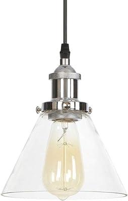 Luz pendiente de cristal, Lámpara de techo Barra de bar Lámpara ...