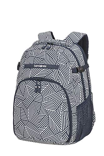 Samsonite Rewind - Laptop Rucksack L Erweiterbar, 45 cm, 34 L, blau (Navy Blue Stripes)