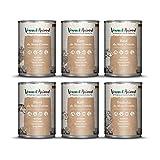 Venandi Animal Premium Nassfutter für Katzen, Probierpaket III, Huhn, Ente, Rind, Pferd, Kalb, Truthahn, 6 x 400 g, getreidefrei und...