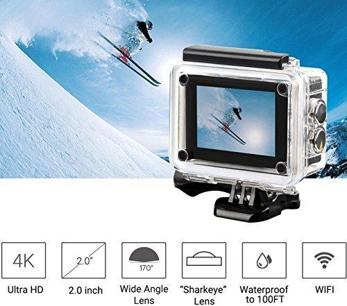 MGcool Explorer-Pro 4K Action Camera,170° Wide Angle