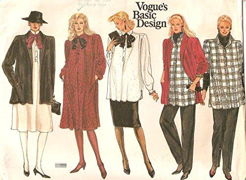 Vogue 1261 Sewing Pattern Misses Maternity Jacket Dress Top Pants Skirt Sizeb 12-16