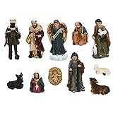 Hothing Belén de Perfil Elegante Figuras de Pesebre Hechas a Mano Decoración navideña Figura de Resina Escultura Belén de Navidad Pintado a Mano