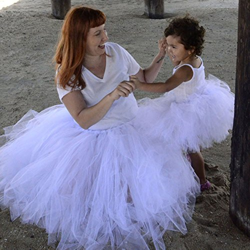 Karrychen Niños bebés niñas Mujeres Adultos Tutu Faldas Mini Ballet Princesa Vestido Elegante Fiesta