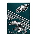 NORTHWEST NFL Philadelphia Eagles Raschel Throw Blanket, 60' x 80', Slant