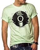 Musik T-Shirt mit Schallplatte Vinyl Dj Mint Größe L