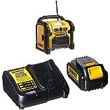 DEWALT DCR018 18V/12V/20V MAX Compact Worksite Radio with DCB200C Battery Pack & Charger