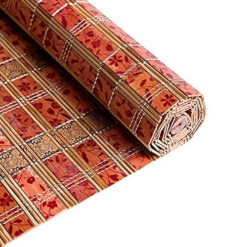 HWL Estor Enrollable Cortina de Persiana Enrollable de Bambú para Puerta de Patio, Sombrilla Impermeable Transpirable para Interior/Exterior, Personalizable (Size : 60×140cm)