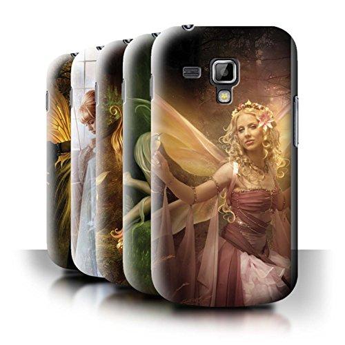 Elena Dudina Oficial Carcasa/Funda/Case Dura para el Samsung Galaxy Trend Plus/S7580 / Serie: Hadas Elegantes - 10pcs Paquete
