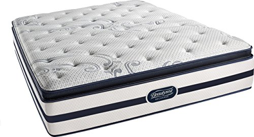 Beautyrest Recharge Simmons Luxury Firm Pillow Top Mattress, Queen, Pocketed Coil, Air-Cool Gel Memory Foam, Silver