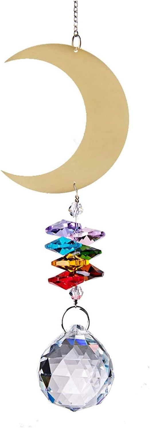 Vitaisa Window Regular store Hanging Crystal Metal Elf and Ornament Max 80% OFF Colourful