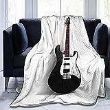 Not applicable Guitare électrique Musique Jeter Couvertures Couvre-Lits en Microfibre Couvertures Jeter Ultra Doux Corail Couvre-lit pour Chambre Salon Canapé Canapé