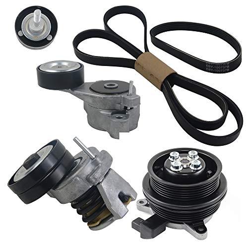 Bomba de agua & Cinturón & Tensor Kit Compatible con Golf Passat Tiguan Touran Jetta Ibiza Fabia A1 1.4 TSI 03C121004D 03C121004J SCSN