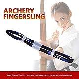 Crazedigi Adjustable Fingersling Archery Finger Sling for Recurve Bow Hunting Shooting Accessory Black L
