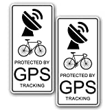 2x Bicycle Warning GPS Tracking Device Sticker - Bike Theft Decal for Top Tube
