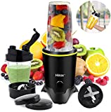 Hilax Blenders for Making Smoothies Shakes - 1000W High-Speed Professional Personal Blender,Fruit Juice Mixer High Speed Blender, 2-Set Blades,35oz and 14oz Portable Travel Blender Bottles,BPA Free