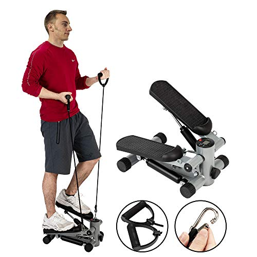 Why Choose sddfor Mini Stepper with Resistance Bands, Fitness Step Air Stair Climber Stepper Silver