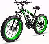 CHHD Bicicleta eléctrica Bicicleta de montaña eléctrica 4.0 Neumático Grueso Bicicleta eléctrica, Bicicleta de montaña eléctrica de 26 Pulgadas, Motor de 48V 1000W Ciclomotor de Litio d