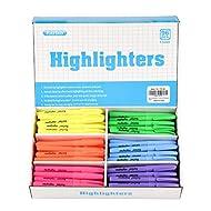 Rarlan Highlighters, Chisel Tip, Assorted Fluorescent, 96 Count Classpack