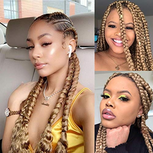 20 inch Pre Stretched Braiding Hair Multiple Colors Yaki Texture Hair Braids 8 Packs Hot Water Setting Top Quality...
