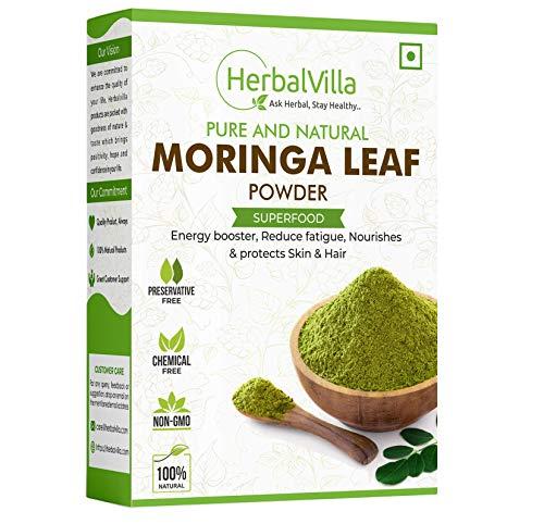Herbalvilla Pure Moringa Leaf Powder (200 grams) For Weight Loss and Hair Growth