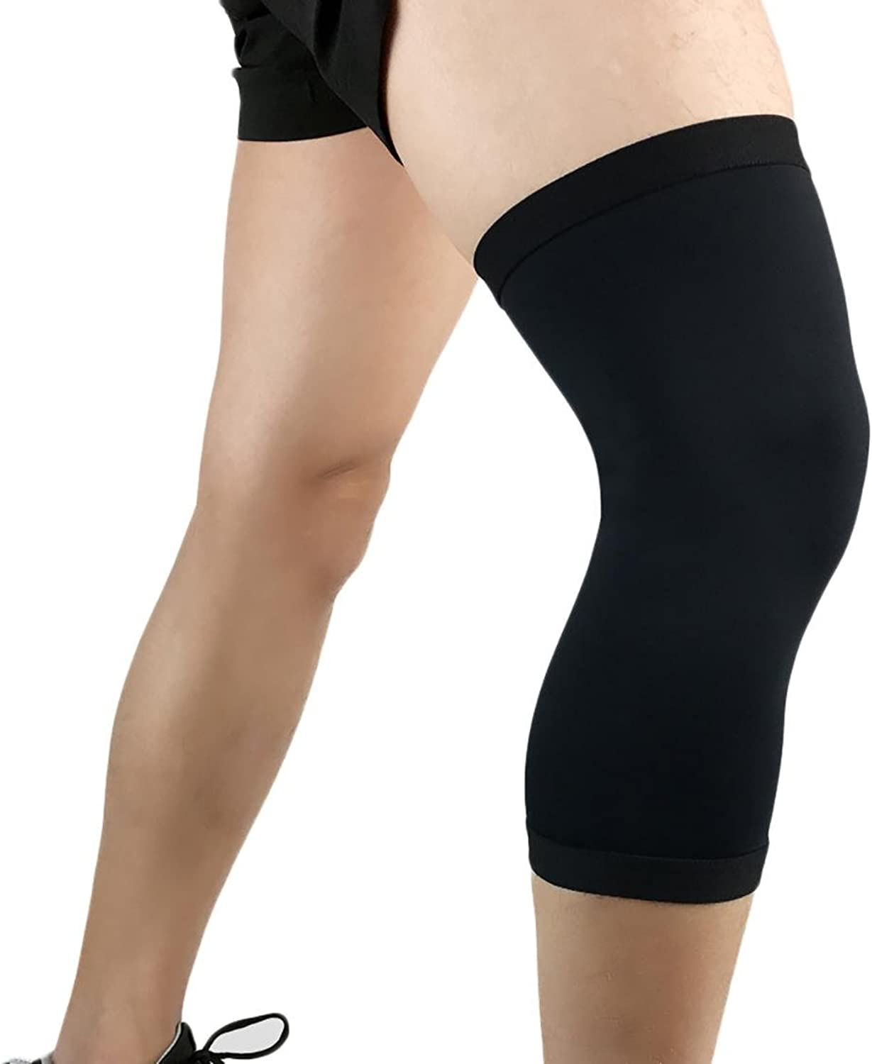 Sports knee pads basketball breathable compression tights outdoor run fitness riding predective supplies m   l   xl (A pair)