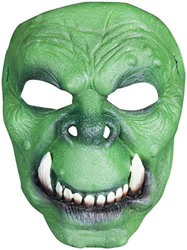 Ork Maske des Grauens aus Latex - Erwachsenen Horror Monster Troll Kostüm Maske - ideal für Halloween, Karneval, Motto- & Grusel-Party
