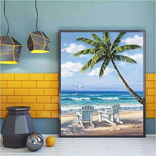 znwrr Rompecabezas de Papel para Silla de Playa de Surf, 1000 Piezas, Rompecabezas de Dibujos Animados Divertidos para Adultos, Regalo Divertido de descompresión Creativa 38x26 cm