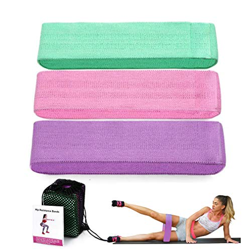 Resistance Bands,Premium Exercise Loops,3 Resistance Level Workout Booty Bands,Workout Resistance Bands Loop Set Yoga Booty Leg Exercise Band Fitness