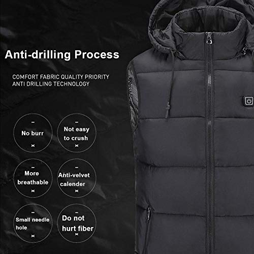 51FhHUX09uL. SS500  - For Riding Bicycle and Motorcycle,Fishing,SkiingHeated Vest,Men's Heated Vest, Lightweight Electric Gilet Jacket…