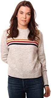 cupcakes and cashmere Sweaters Long Sleeve Crew Neck Multi Striped Kn