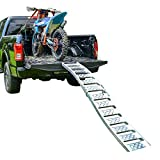 "Budge ""Tru-Grip"" Dual Curved Aluminum Folding Motorcycle Ramp (750 lb) /ATV Ramp (1,500 lb)- 7.5' Long, Sold as Pair"