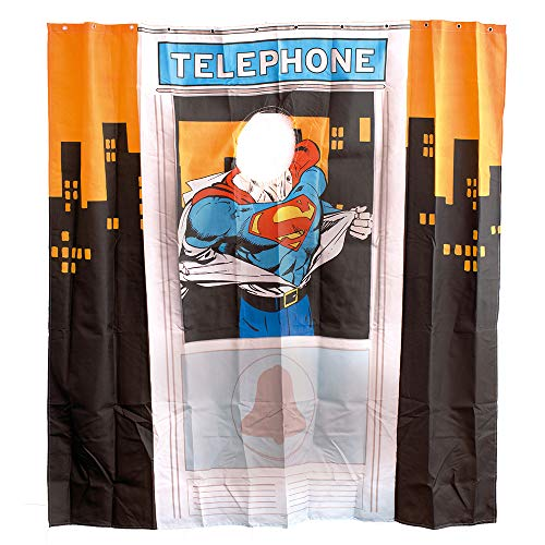 Preis am Stiel Duschvorhang - Superman (Telephone Box)