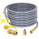 SUMNEW 36 Feet 1/2 inch ID Natural Gas Hose, Quick Connect/Disconnect Fittings with 3/8' Female by 1/2' Male Adapter for Grill, Patio Heater, Generator, Pizza Oven, etc - CSA Certified