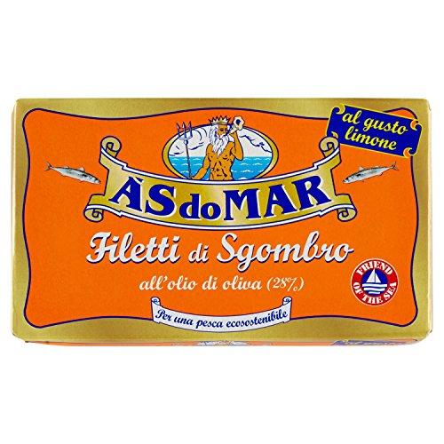 Asdomar - Filetti Di Sgombro, All'Olio Di Oliva, Al Gusto Limone - 5 pezzi da 125 g [625 g]
