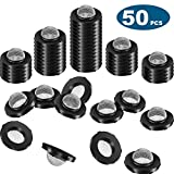 Mudder 50 Pieces Stainless Steel Filter Garden Hose Washers Gasket, Self Locking Tabs Keep Washer Firmly Set Inside Fittings for 5/8 Inch Washing Machine and 3/4 Inch Garden Hose Connector
