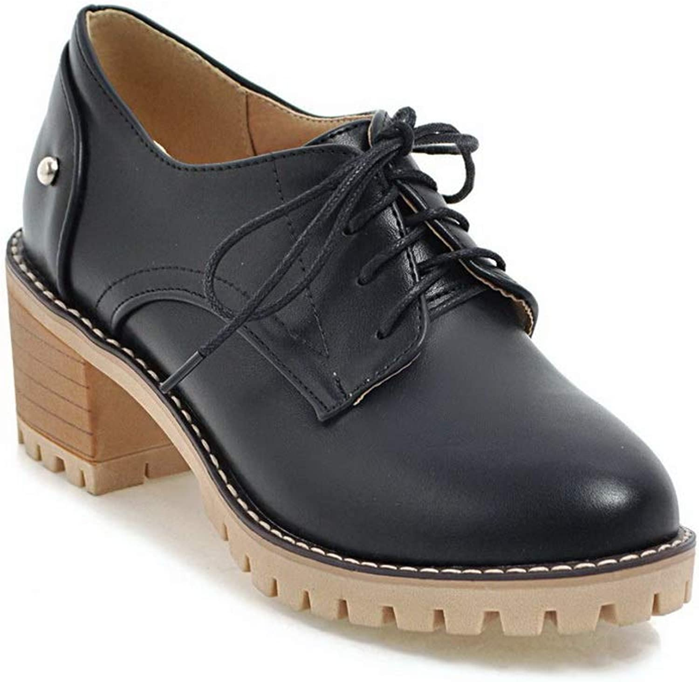 AdeeSu Womens Platform Baguette-Style Casual Urethane Pumps shoes SDC05695