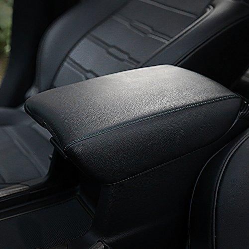 Bwen fsx0428w Car Armrest Box Cover,1pc Armrest Box Cover Saver Fit for 2017 2018 2019 Honda CRV,Black with Black Stitches