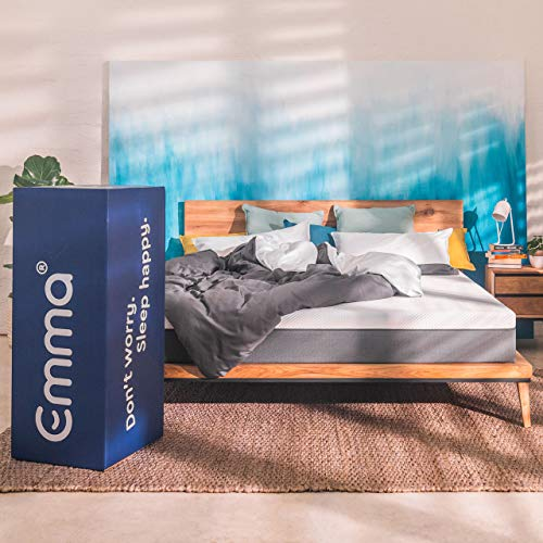 Emma Essential Mattress | Europe's Most Awarded Mattress | German Engineered | 75x72 King Size | 8 Inch Height | 3 Layered Memory Foam | 100 Nights Trial